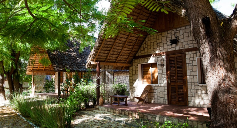 bons types de bungalows à la Hôtel bamboo club